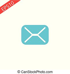 Mail icon Vector illustration on white background. eps10.