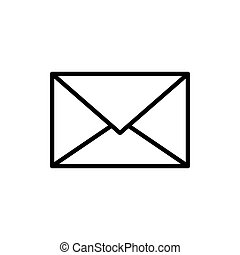 Mail icon vector isolated on white background