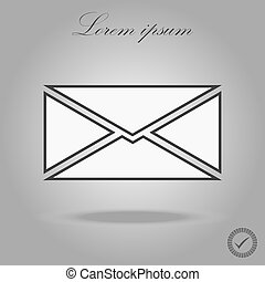 Mail icon vector isolated on white background. Trendy mail icon in white style. Template for app, ui and logo. Icon mail for your web site. Modern mail icon, EPS 10