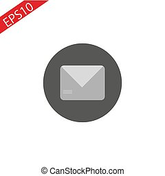 Mail icon white background