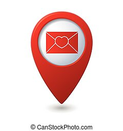 Mail icon with heart