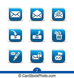 mail icons no.7..smooth series - Set of nine mail web icons...