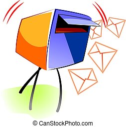Mail - Illustration of a post box for mail