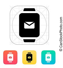 Mail in smart watch icon.