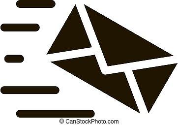Mail Letter Postal Transportation Company Icon Vector Illustration