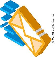 Mail Letter Postal Transportation Company isometric icon vector illustration