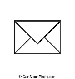 Mail line icon on a white background
