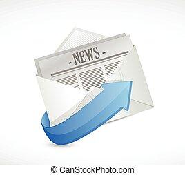 mail news illustration design