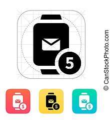 Mail notification on smart watches icon.