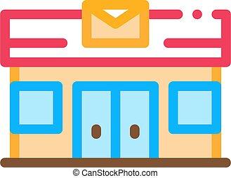Mail Ofiice Postal Transportation Company Icon Vector Illustration