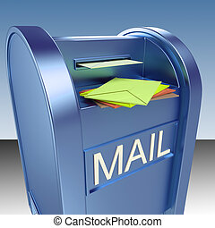 Mail On Mailbox Shows Mail Post