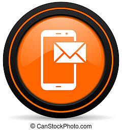 mail orange icon post sign