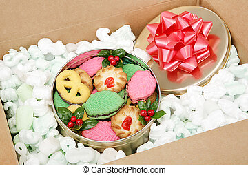 Mail Order Christmas Cookies - A tin of Christmas cookies...