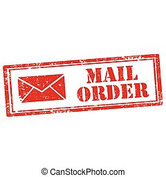 Mail Order - Grunge rubber stamp with text Mail Order,vector...