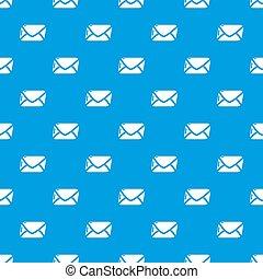 Mail pattern seamless blue