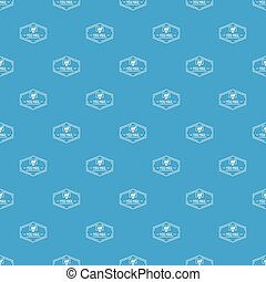 Mail pattern vector seamless blue