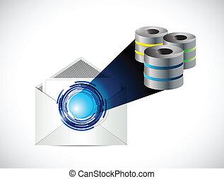 mail servers illustration design