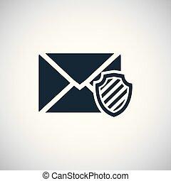 mail shield icon trendy simple concept symbol design