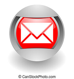 mail steel glosssy icon