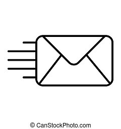 Mail thin line icon. Envelope illustration isolated on white. Email outline style design, designed for web and app. Eps 10.