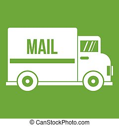 Mail truck icon green