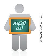 mail us message illustration design