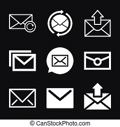Mail vector icon. Illustration isolated for graphic and web design.