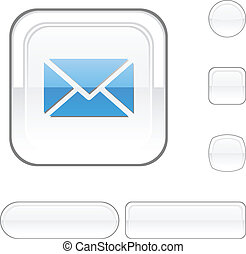 mail white button.
