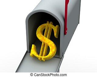 mailbox. 3d