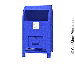 Mailbox - A blue US mailbox