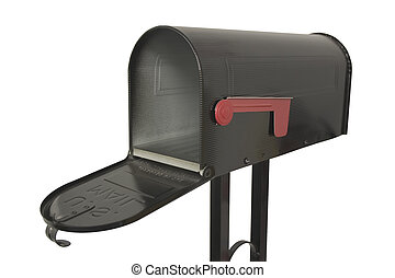 An isolated mailbox.