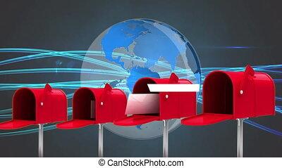 Mailbox and globe