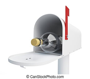 mailbox bottle on a white background