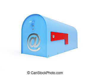 mailbox e-mail, email,  on a white background