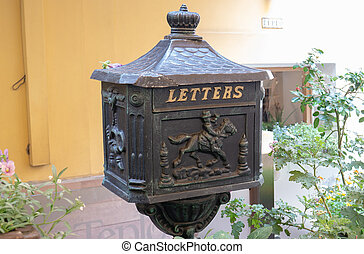 Mailbox for letters and parcels. Steel Box
