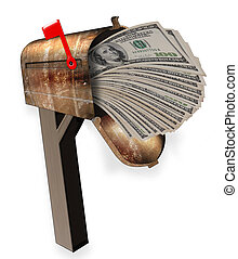 Mailbox full of money.