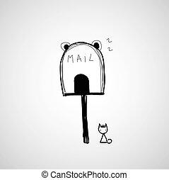 mailbox icon cartoon