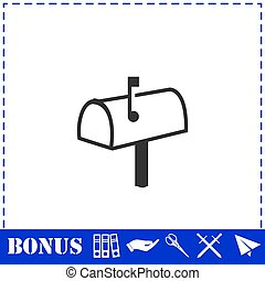 Mailbox icon flat