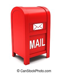 Mailbox on a white background.