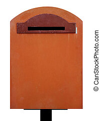 mailbox on white background