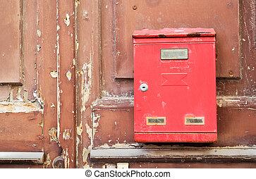mailbox on wood