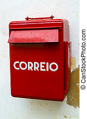mailbox Portuguese post in Obidos