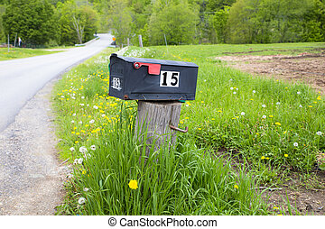 Mailbox - Rural mailbox on country road