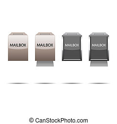 Mailbox set with shadows for your design