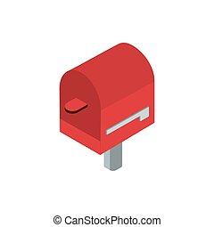 mailbox stick correspondence postal mail isometric