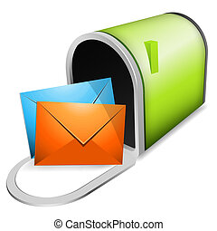 Mailbox - Vector illustration of mailbox.