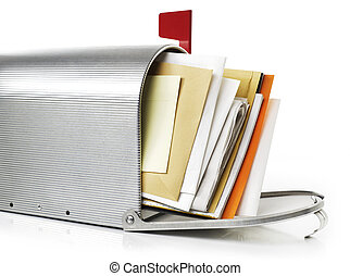 Mailbox with correspondence - Mailbox full with...