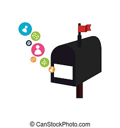 mailbox with social media icons
