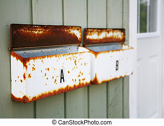 Mailboxes - Rusty Mailboxes
