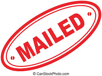 mailed word stamp7
